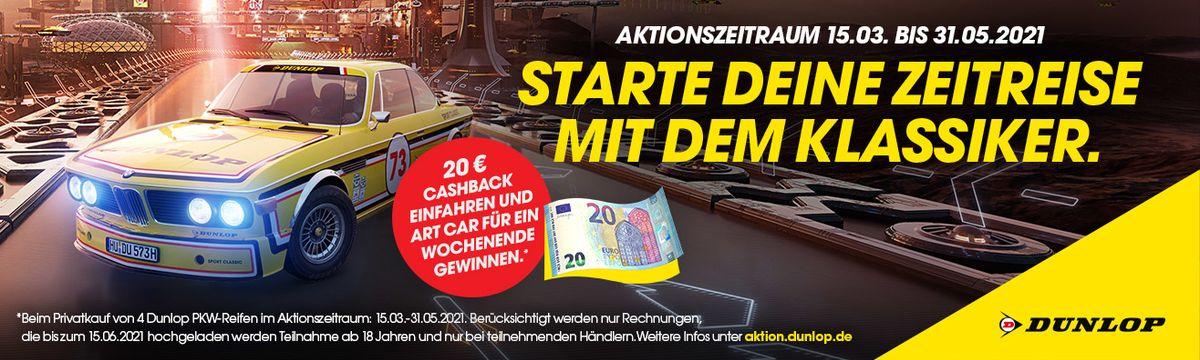 Jetzt Dunlop Reifen kaufen und 20 Euro Cashback sichern!